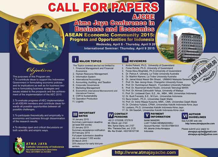 call for economic papers 2014 Call for papers: asian bureau of finance and economic research the asian bureau of finance and economic research will be holding its call for papers 2014.